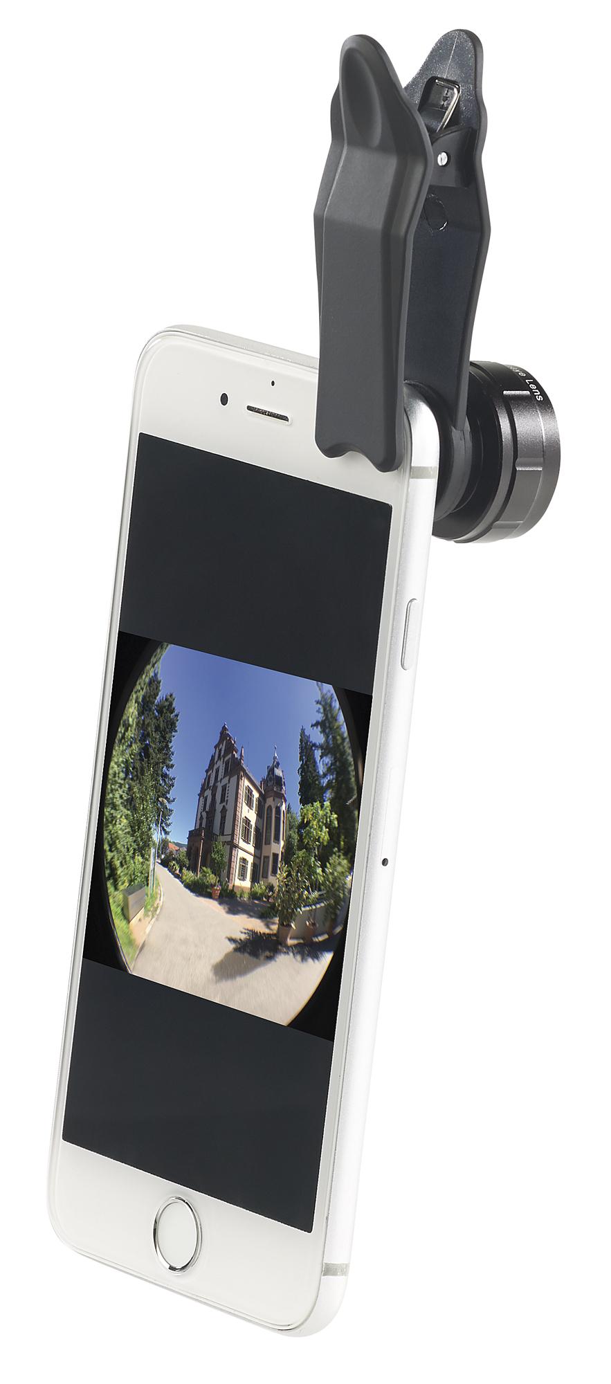 Somikon 4er Set Premium Vorsatzlinsen Weitwinkel