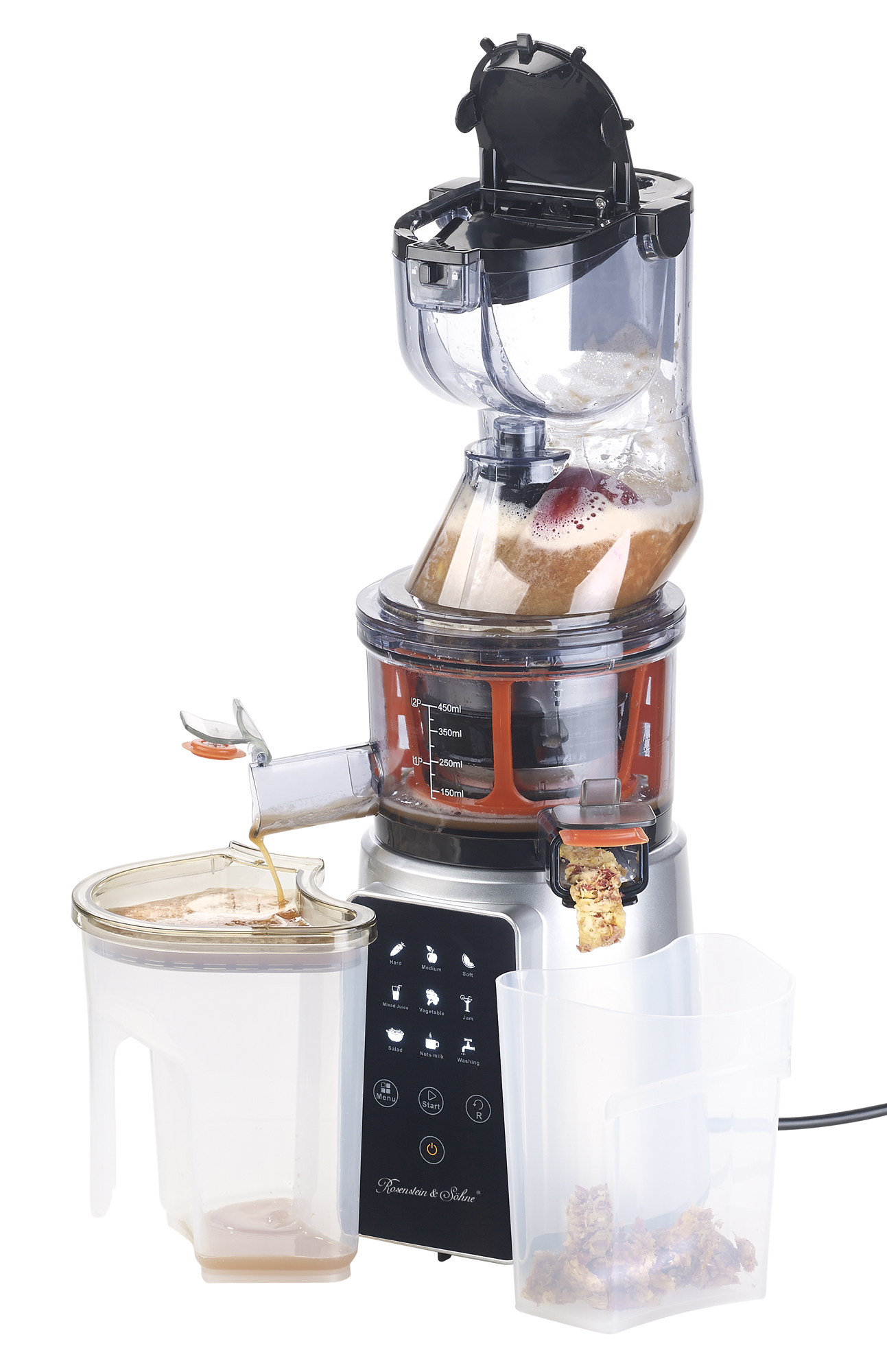 Nutrilovers Slow Juicer Elektrischer Entsafter : Presse-Information Rosenstein & Sohne Digitaler Slow Juicer & Kaltpress-Ents...