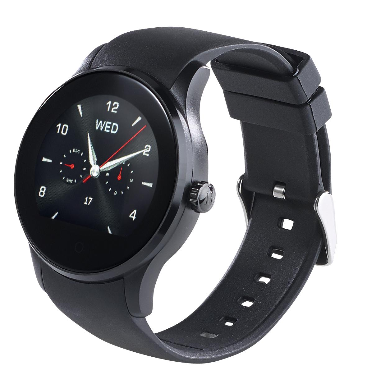 simvalley mobile handy uhr bluetooth smartwatch f r ios. Black Bedroom Furniture Sets. Home Design Ideas