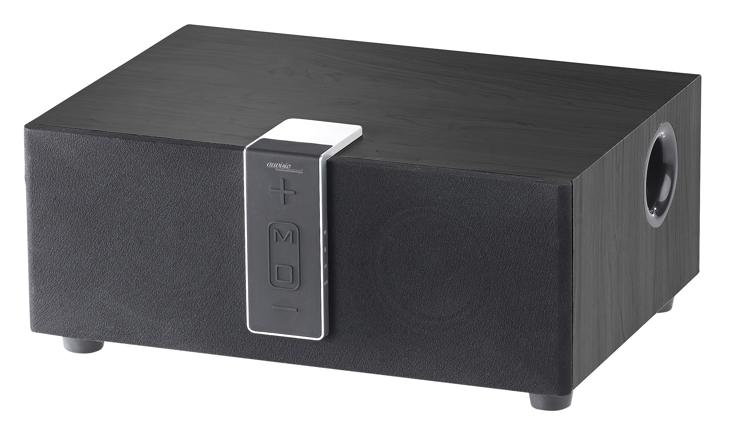 auvisio wlan multiroom lautsprecher mit subwoofer bt airplay 80 w. Black Bedroom Furniture Sets. Home Design Ideas