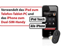 Callstel 3in1 Externer Bluetooth-SIM-Adapter für iPhone4 (refurbished) (Bild 3)
