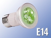 High-Power LED-Strahler, 3W LED, grün, E14 (230V) (Bild 1)