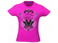 T-Shirt Hannah Montana - Rock true to Your Heart, pink, Größe L (Bild 1)