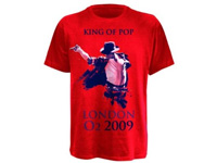 T-Shirt Michael Jackson - King of Pop, rot, Größe XL (Bild 1)