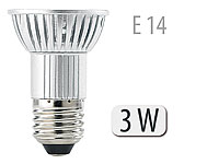 High-Power LED-Strahler 3x1W LED, Kaltweiß, E14 (230V) (Bild 1)