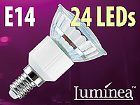 Luminea SMD-LED-Lampe E14 24 LEDs 230V - warmweiß 4er-Pack (Bild 1)