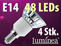 Luminea SMD-LED-Lampe E14 48 LEDs 230V - warmweiß 4er-Pack (Bild 1)