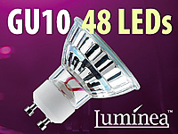 Luminea SMD-LED-Lampe GU10 48 LEDs 230V - orange (Bild 1)