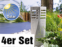 "Lunartec Solar-LED-Steinleuchte ""Tower"", 4er-Set (Bild 1)"
