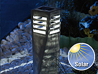 "Lunartec Solar-LED-Steinleuchte ""Tower"", 4er-Set (Bild 2)"