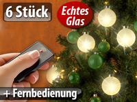 beleuchtete weihnachtsbaum kugeln aus glas mit fernbed 6. Black Bedroom Furniture Sets. Home Design Ideas