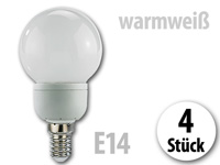 Luminea SMD-LED-Lampe Classic, 24 LEDs, warmweiß, E14 (230V) 4er-Set (Bild 1)