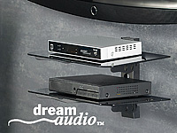 "dream audio 2-fach Universal-HiFi- & DVD-Rack ""HR-440-Duo"" Schwarzglas (Bild 2)"