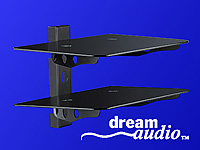 "dream audio 2-fach Universal-HiFi- & DVD-Rack ""HR-440-Duo"" Schwarzglas (Bild 3)"