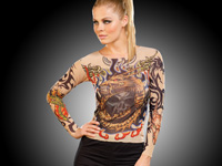 "infactory Tattoo-Shirt ""Tribal & Dragon"", bunt (Bild 2)"