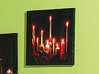 "LED-Leinwandfoto mit romantischem Kerzenflackern""Romantic Moments"" (Bild 1)"