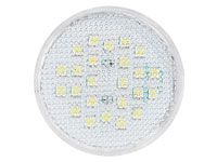 Luminea Highpower-LED-Lampe mit 12 SMD-LEDs, 3W, GX53, warmweiß (Bild 1)