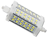 Luminea LED-SMD-Lampe mit 36 High-Power-LEDs R7S 118mm, Kaltweiß (Bild 1)