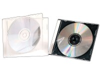 50er-Set Slim-CD-Hüllen transparent (Bild 1)