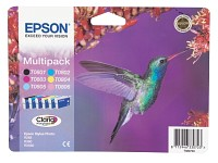Original EPSON 6 color Multipack, T080140/240/340/440/540/640 (Bild 1)