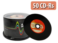 Vinyl-Look CD-R 700MB/80Min, 52x, 50er-Spindel