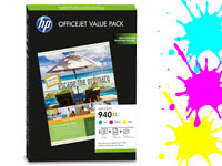 Original HP Value-Pack No.940XL C/M/Y + 100 Blatt A4-Papier 180g/m� (Bild 1)