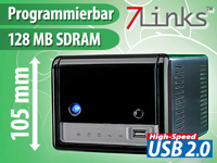 7links 4in1 WLAN Media-Server mit Printserver & IPCam-Streamer (Bild 1)