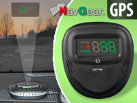 "NavGear 2in1 Head-Up-Display: GPS-Tacho & BT GPS-Receiver ""HUD90-BT"" (Bild 2)"