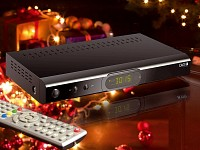 auvisio Digitaler HD-Sat-Receiver + USB-Mediaplayer&Rec. (refurbished) (Bild 1)