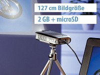 "SceneLights Mini-LED-Beamer +Mediaplayer ""Pocket Cinema"" (refurbished) (Bild 1)"