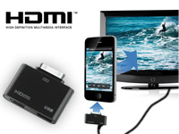 auvisio HDMI-Video-Adapter 1080p für iPhone & iPad am LCD-TV/ Beamer
