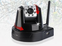 "7links Fernsteuerbare HD WLAN-IP-Kamera ""RoboCam IV"" Pan/Tilt/Zoom (Bild 1)"