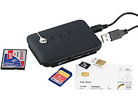 c-enter Multi-Card-Reader SIM/ SMART/ mit aktivem 3-fach-USB-Hub (Bild 1)