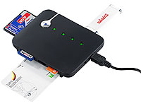 c-enter Multi-Card-Reader SIM/ SMART/ mit aktivem 3-fach-USB-Hub (Bild 2)
