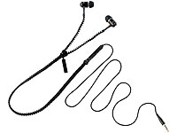 auvisio Zipper-Headset IE-400.zip mit Reißverschluss (schwarz) (Bild 1)