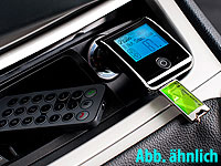 auvisio Bluetooth-Freisprecher mit FM-Transmitter FMX-550.BT v.2