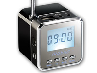 "auvisio Mini-MP3-Station ""MPS-550.cube"" mit integriertem Radio"