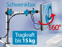 "General Office LCD- & TFT-Monitorarm für 48-58 cm (19-23"") Diagonale (Bild 1)"