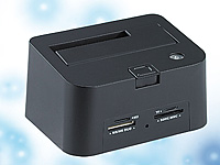 "Xystec USB-HDD-Station ""FD-400Twin"" 2,5"" & 3,5"" SATA mit Card-Reader (Bild 1)"