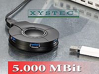 "Xystec Aktiver Super-Speed USB3.0-Hub ""SSU-5004"" mit 4 Ports (Bild 1)"