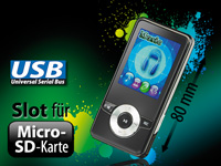 "auvisio MP3- & Video-Player ""DMP-320.m"" mit UKW-Radio (Bild 1)"