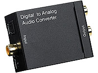 auvisio S/PDIF-Audio-Adapter Toslink/Koaxial-Digital auf analog Cinch (Bild 1)