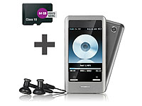 auvisio Touchscreen-MP3-Player DMP-640.touch mit Kamera + 4 GB microSD (Bild 1)