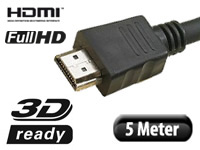 HDMI-1.4-Kabel High-Speed mit Ethernet, 19-polig 5 m (Bild 1)