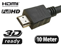 HDMI-1.4-Kabel High-Speed mit Ethernet, 19-polig 10 m (Bild 1)
