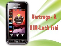"Samsung Touchscreen-Handy ""S5230"" noble black, Vertrags-/SIM-LOCK-FREI (Bild 1)"