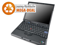 "Lenovo ThinkPad X60s, 12""/ 30cm, 2x1,5GHz, 2GB RAM, 100GB, Win7 Pro (Bild 1)"