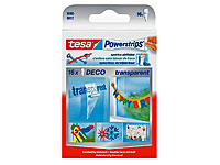 tesa Powerstrips Deco, transparent im 14er-Pack (Bild 1)
