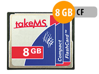 takeMS CompactFlash Speicherkarte 8 GB Hyper-Speed (Bild 1)