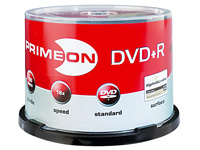 PRIMEON DVD+R lightScribe (LS 1.2), 50er-Spindel, color-mix (Bild 1)